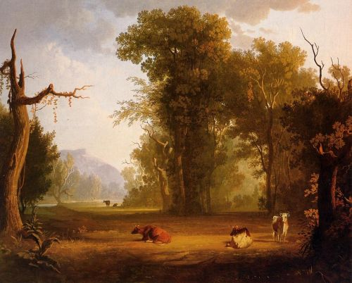 Landscape with Cattle by George Caleb Bingham