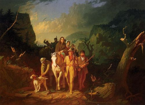 The Emigration of Daniel Boone by George Caleb Bingham