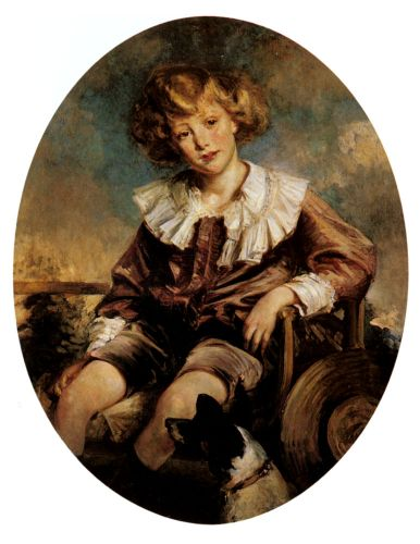 Portrait Of Antonin De Mun As A Young Boy by Jacques Emile Blanche