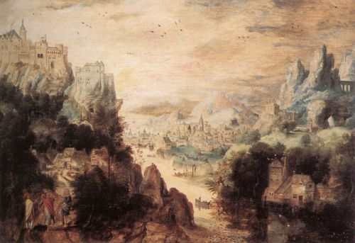 Landscape with Christ and the Men of Emmaus by Herri Met de Bles