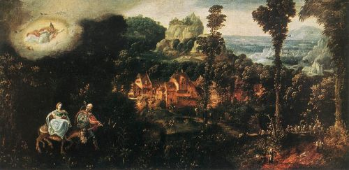 The Flight into Egypt by Herri Met de Bles