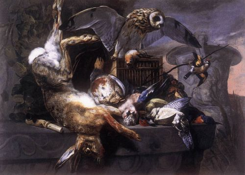 Still-Life with Owl by Pieter Boel