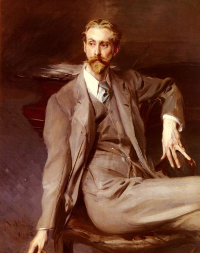 Portrait Of The Artist Lawrence Alexander Harrison by Giovanni Boldini