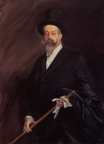 Portrait of The Writer Henri Gauthier-Villars by Giovanni Boldini