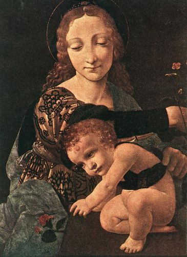 Virgin and Child with a Flower Vase by Giovanni Antonio Boltraffio
