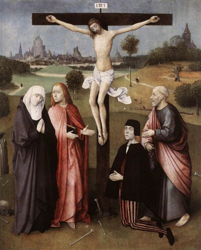 Crucifixion with a Donor by Hieronymus Bosch