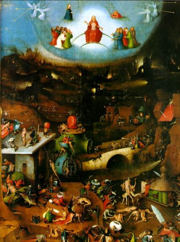 Last Judgement, central panel of the triptych by Hieronymus Bosch