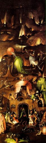 Last Judgement, right wing of the triptych by Hieronymus Bosch