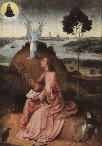 St John on Patmos by Hieronymus Bosch
