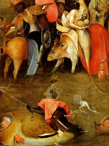 Temptation of St Anthony, detail of the central panel by Hieronymus Bosch