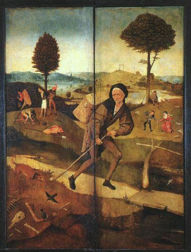 The Path of Life, outer wings of the Haywain triptych by Hieronymus Bosch