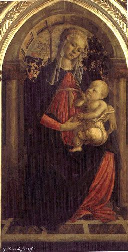 Madonna of the Rosengarden by Sandro Botticelli