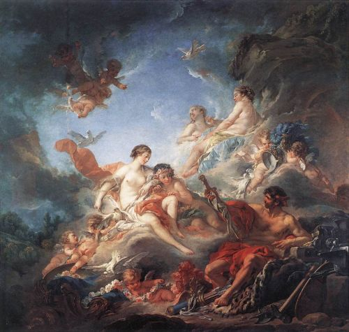 Vulcan Presenting Venus with Arms for Aeneas, 1757 by François Boucher