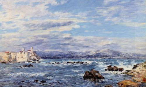 A Gusty Northwest Wind at Antibes by Eugène Boudin