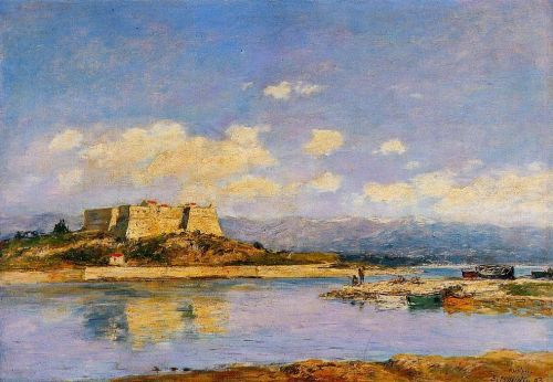 Antibes, Fort Carre by Eugène Boudin