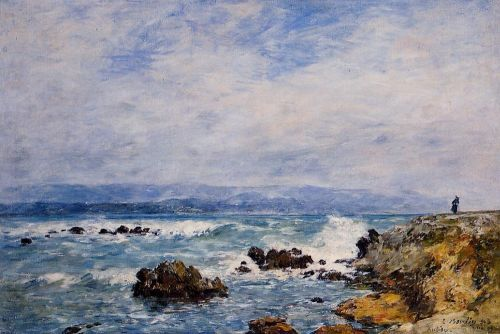Antibes, the Point of the Islet by Eugène Boudin
