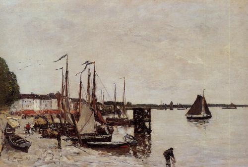 Anvers, Fishing Boats by Eugène Boudin