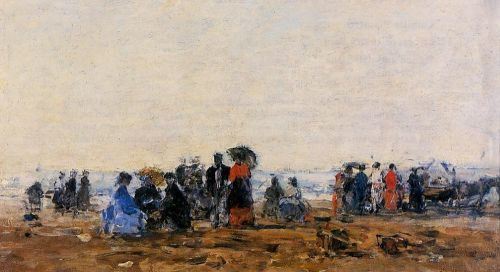 Beach Scene by Eugène Boudin