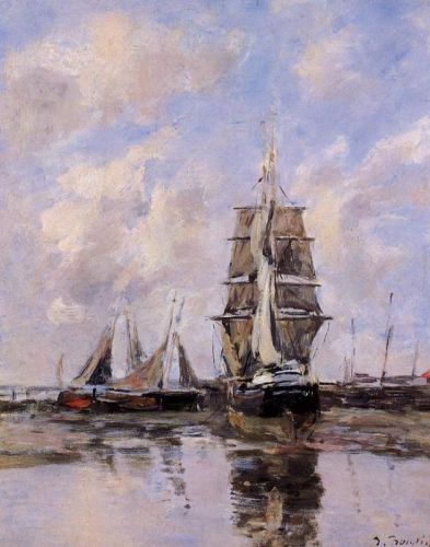 Beached Boats by Eugène Boudin