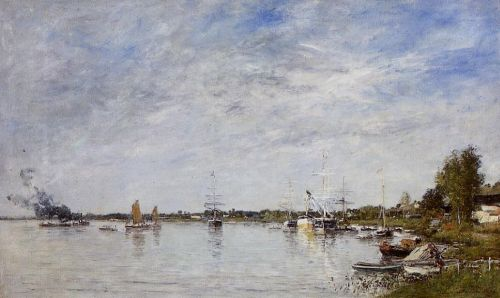 Boat Construction Docks at Lormont by Eugène Boudin