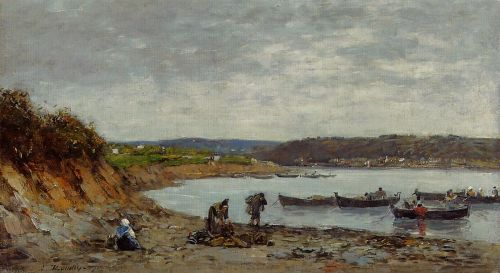 Brest, Fishing Boats by Eugène Boudin