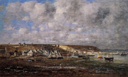 Camaret, Low Tide by Eugène Boudin