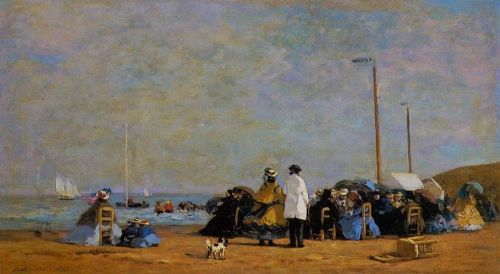 Crinolines on the Beach by Eugène Boudin