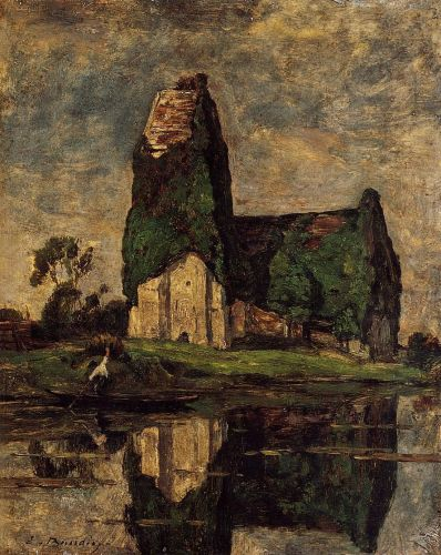 Criqueboeuf, the Church by Eugène Boudin