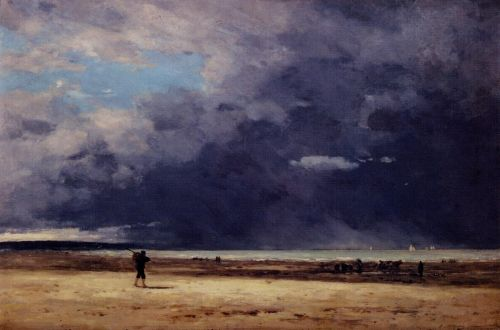 Deauville, Low Tide by Eugène Boudin