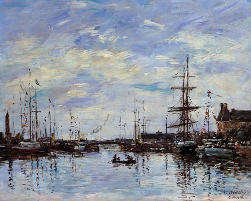 Deauville, the Basin by Eugène Boudin