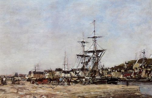 Deauville, the Docks by Eugène Boudin