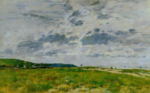 Deauville, the Dunes by Eugène Boudin