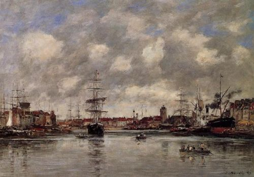 Dunkirk, the Hollandaise Basin by Eugène Boudin