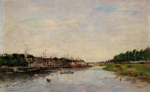Entrance to the Port of Saint-Valery-sur-Somme by Eugène Boudin