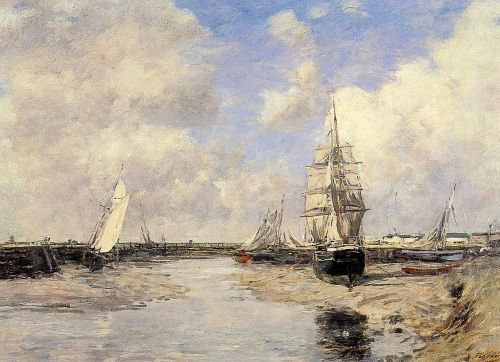 Estuary at Trouville by Eugène Boudin