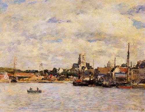 Fecamp, the Port by Eugène Boudin