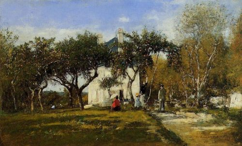 Fervaques, Garden and House of Monsieur Jacuette by Eugène Boudin