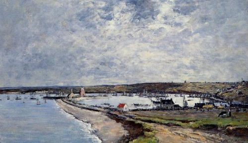 General View of Camaret by Eugène Boudin