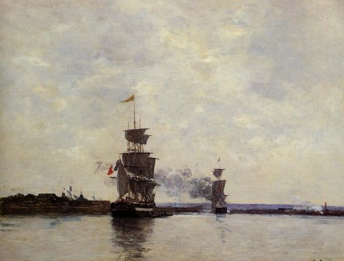 Havre, the Outer Harbor by Eugène Boudin