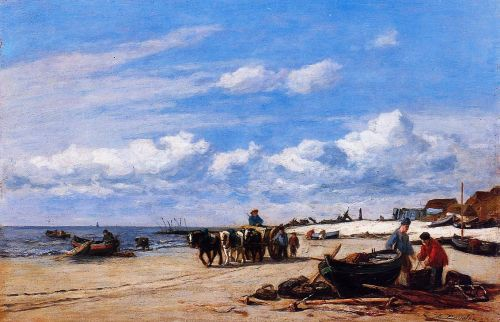 In the Vicinity of Honfleur by Eugène Boudin