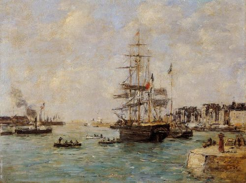Le Havre, the Outer Port by Eugène Boudin