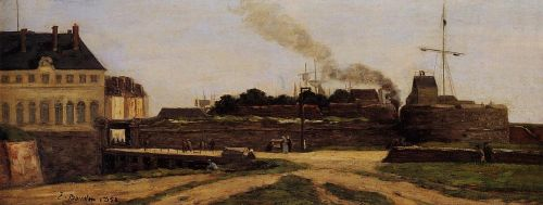 Le Havre, the Town Hotel and the Francois I Tower by Eugène Boudin