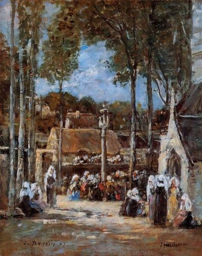 Local Pilgrimmage at Landerneau by Eugène Boudin