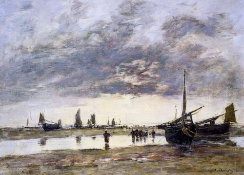 Low Tide at Berck by Eugène Boudin