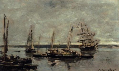Near Camaret by Eugène Boudin