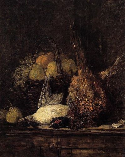 Pheasant, Duck and Fruit by Eugène Boudin