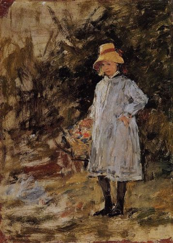 Portrait of a Little Girl by Eugène Boudin