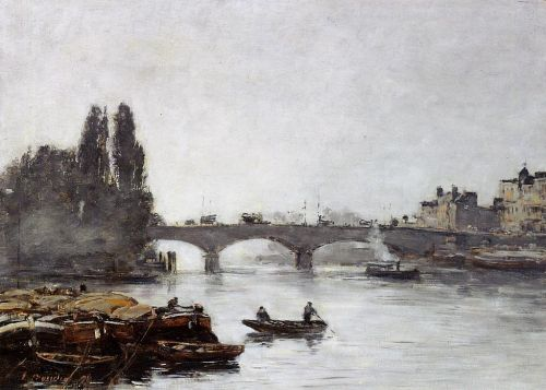 Rouen, the Pont Corneille, Fog Effect by Eugène Boudin