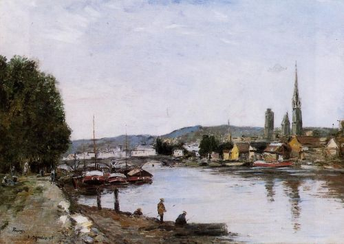 Rouen, View from the Queen's Way by Eugène Boudin