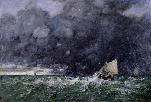 Rough Seas by Eugène Boudin